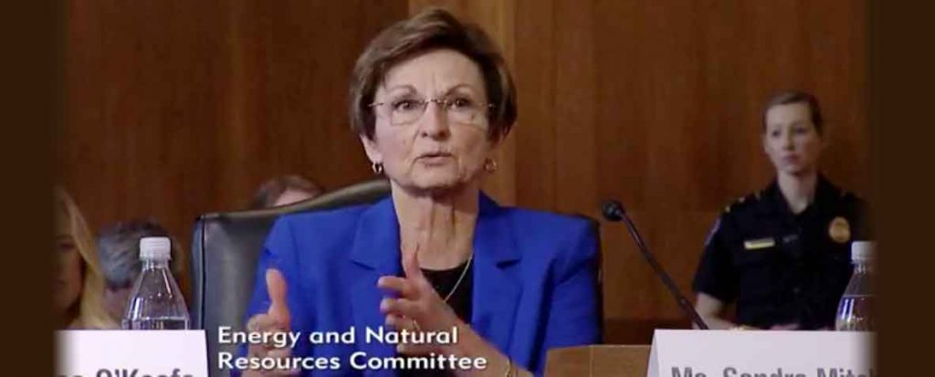 Sandra Mitchell Testifies Before U.S. Senate Committee Energy Natural Resources