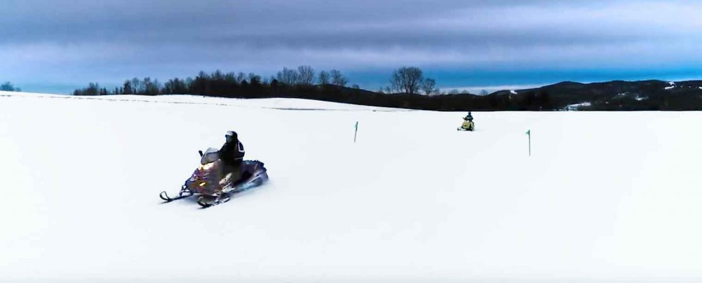 Snowmobile Video Recognizes Vermont Farmers